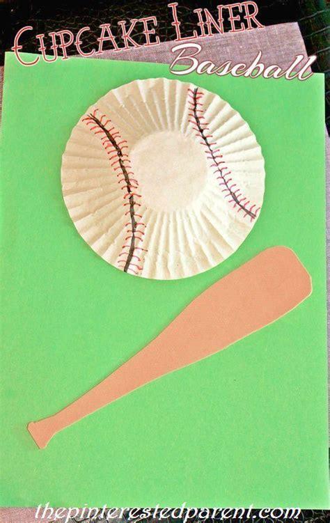 baseball crafts for cupcake liner baseball cotton cotton craft