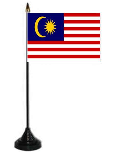 malaysia desk table flag with plastic stand and base