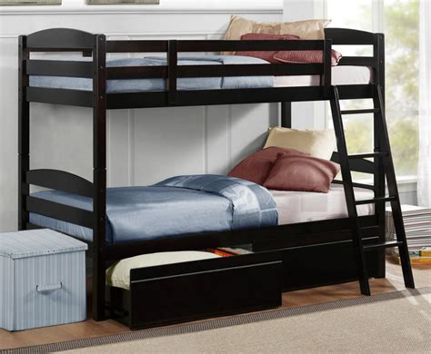 Homelegance Meyer Twin Over Twin Bunk Bed W Underbed Bunk Bed Box