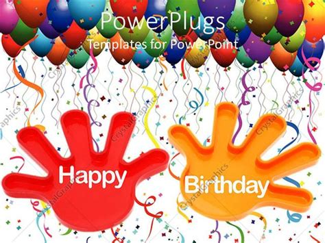 Powerpoint Template Hands With The Words Happy Birthday And Birthday Balloons 3544 Free Birthday Powerpoint Templates For Mac
