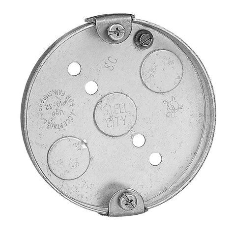 ceiling fan pancake box 4 in 6 cu in metal round pancake box case of 30 56111
