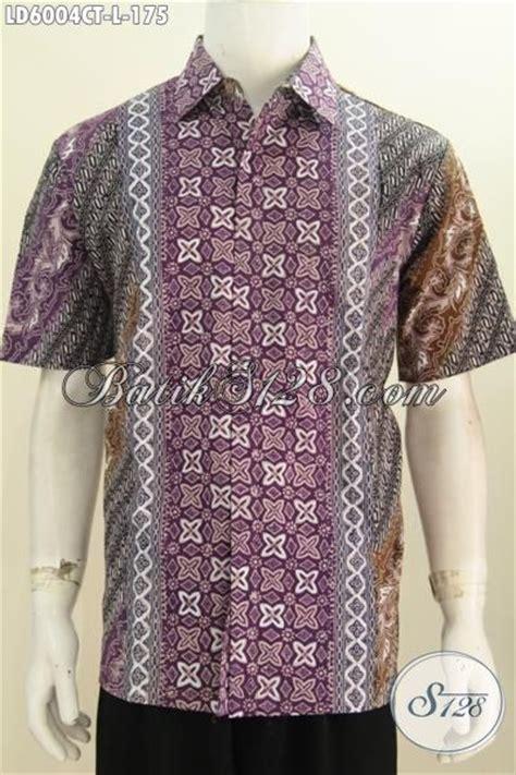 desain baju batik lelaki baju kerja bahan batik model lengan pendek hem batik