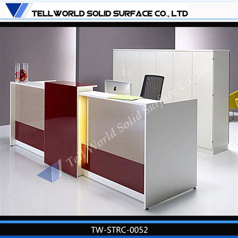 office reception desk designs tell world office furniture leading producer acrylic solid
