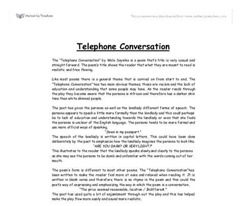 Conversation Essay by Essay On Telephone Conversation