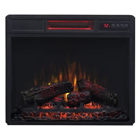 infrared electric fireplace insert classicflame 23 in spectrafire infrared electric fireplace