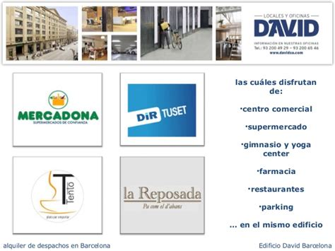 oficinas correo barcelona oficinas alquiler barcelona edificio david