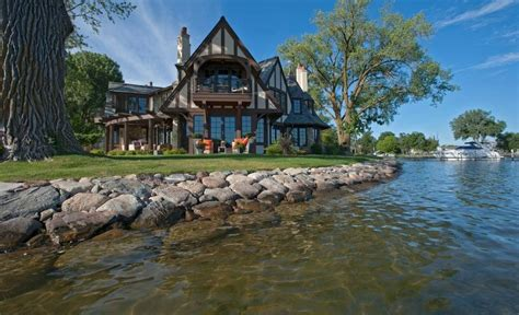 Lake Front House by 20 Tudor Style Homes To Swoon Over