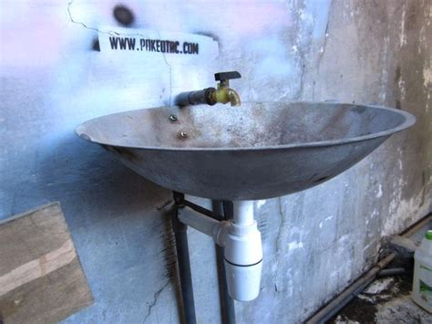 Rel Laci Radium cara membuat wastafel dari wajan radium jual kertas