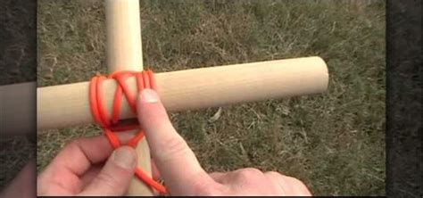 how to bind poles together with a japanese square lash