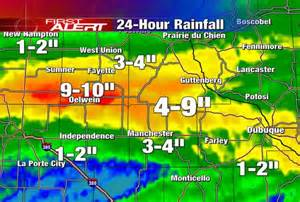 Rainfall totals for eastern iowa the past 24 hours the gazette