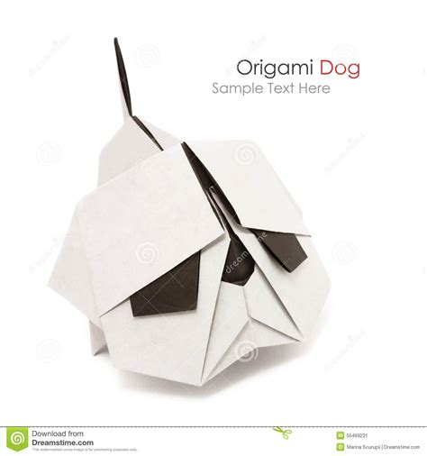 Origami Bulldog - origami bulldog stock photo image 55469231