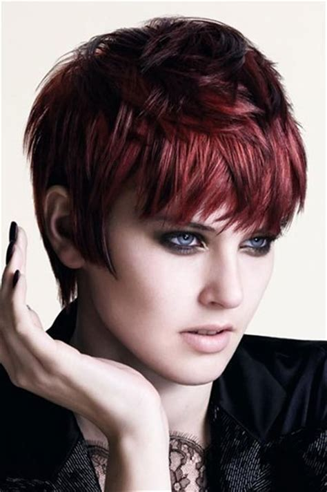 hairstyles cut and color auburn hair color for short haircuts best hair color
