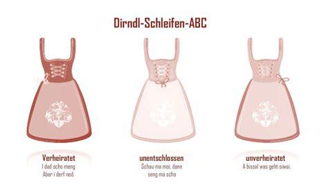 Schleife Dirndl Bedeutung by Dirndl Schleifen Abc