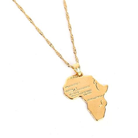 africa map pendant necklace africa map pendant necklace 24k gold