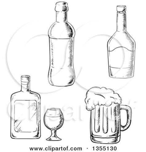 black and white chagne bottle clipart liquor bottle coloring pages