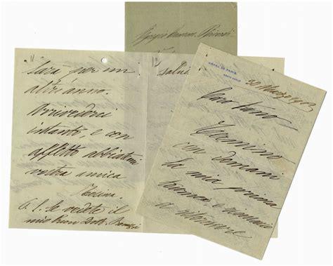 all asta fano storchio rosina lettera autografa firmata inviata all