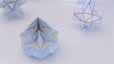 3d Geometric Origami - origami geometric 3d model max obj 3ds fbx mtl cgtrader