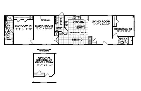 18 x 80 mobile home floor plans legacy housing single wide modular manufactured mobile homes