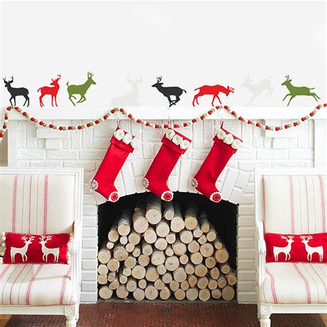 Holiday Wall Stickers christmas reindeer vinyl wall stickers by oakdene