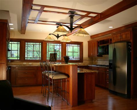 Window Treatments For Two Story Windows - prairie style ranch remodel kitchen