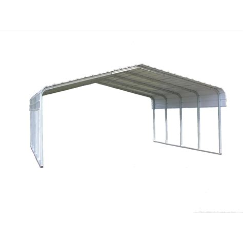 10 X 20 Aluminum Carport Shop Versatube 18 X 20 X 10 Metal 2 Car Carport At Lowes