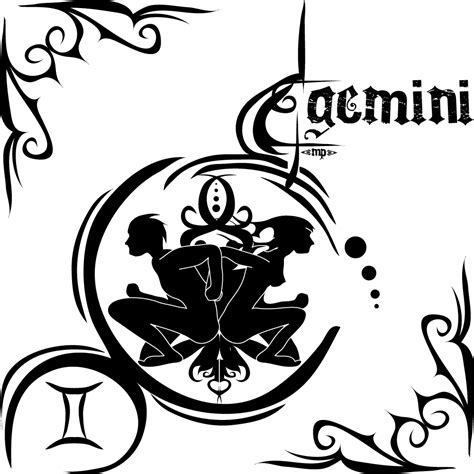 tribal gemini tattoos gemini tattoos designs ideas and meaning tattoos for you