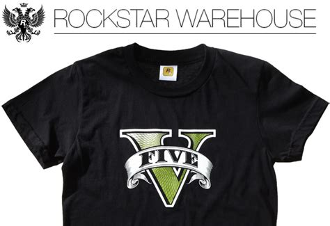 Rockstar Gta5 Logo Tshirt Mens get your gta v t shirts directly from the rockstar