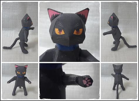 Black Cat Papercraft - black cat papercraft by mironius on deviantart