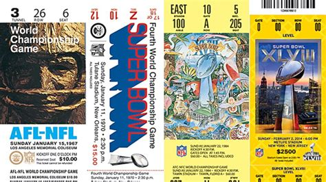 superbowl tickets super bowl 2015 an evolution of tickets in photos photos