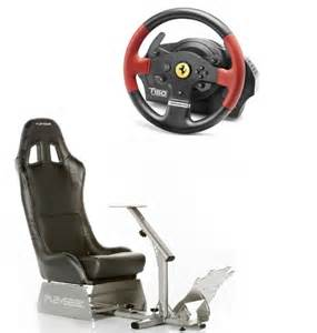 Steering Wheel And Pedals For Gaming Playseat Evolution Racing Gaming Chair Black And