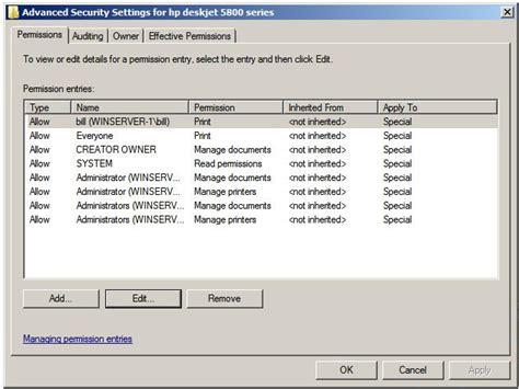 configure xp security its amazing managing windows server 2008 print services