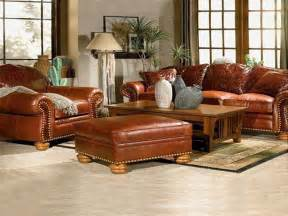 Leather Livingroom Furniture by Living Room Decorating Ideas With Brown Leather Furniture