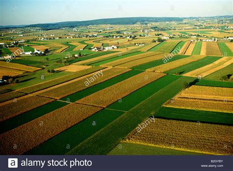 dutch country aerial view of rural pennsylvania dutch country extremely fertile stock photo royalty free
