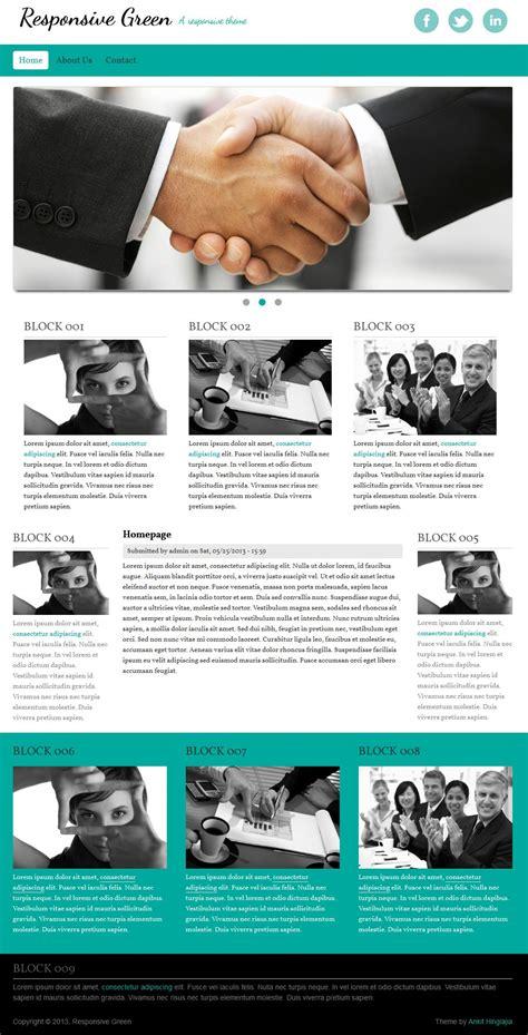 Drupal Themes Responsive Green | responsive green drupal org
