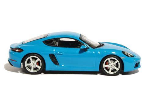 miami blue porsche 718 porsche 718 cayman s 2016 minichs 1 43 autos