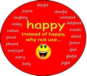 Other Words For Red by Happy Different Ways To Say Happy