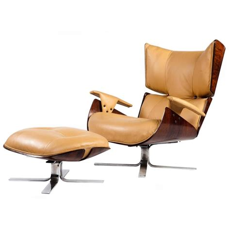 contemporary lounge furniture quot paulistana quot mid century modern lounge chair and ottoman