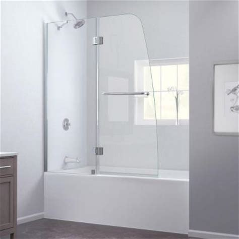 Frameless Pivot Bathtub Door by Dreamline Aqua 48 In X 58 In Frameless Pivot Tub Shower