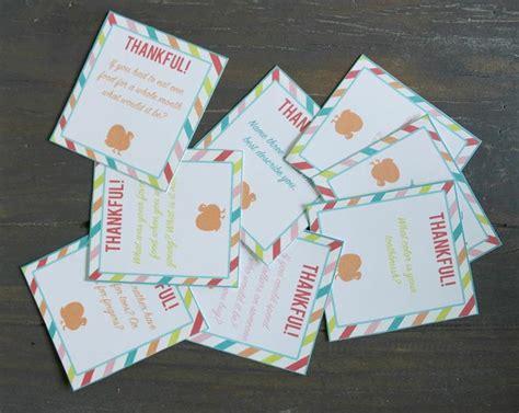 conversation starter cards templates thanksgiving conversation starters the crafting
