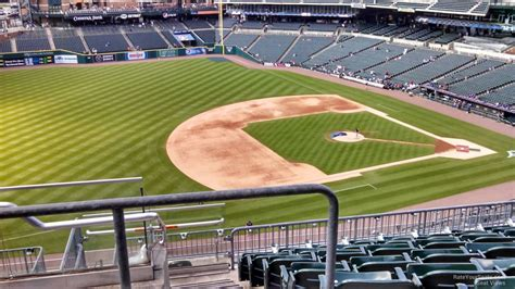 comerica park section 333 upper level infield comerica park baseball seating