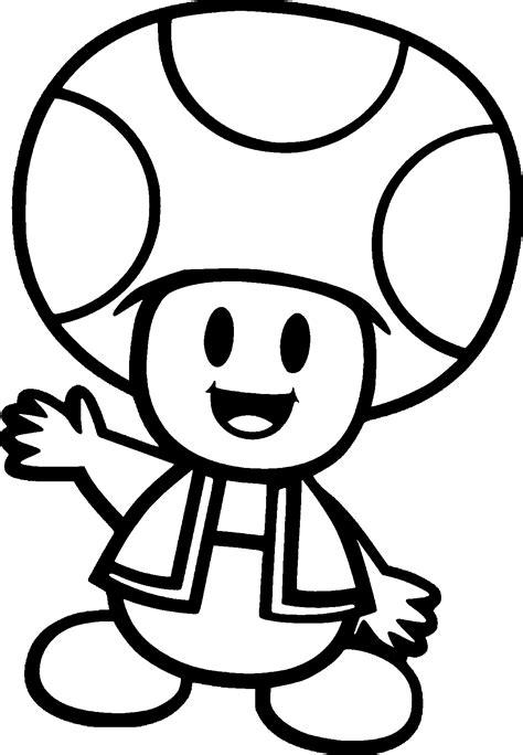 mario mushroom coloring pages happy cute mushroom man coloring page wecoloringpage