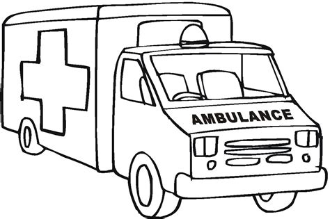 ambulance coloring page free ambulance coloring pages to download and print for free