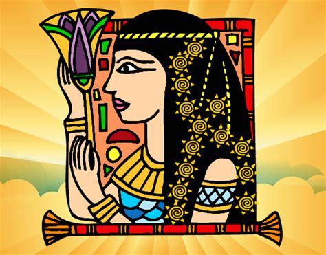 imagenes de figuras egipcias para colorear dibujo de egipciaa pintado por 12 6 1 en dibujos net el