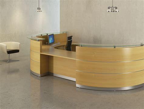Reception Desk Wood Premier Veneer And Laminate Reception Desk