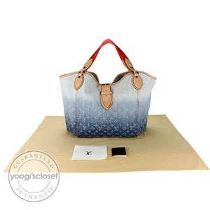 louis vuitton blue denim monogram denim sunbeam bag