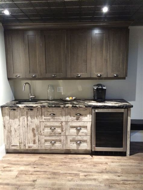 Basement kitchen. Rustic, industrial, urban farmhouse