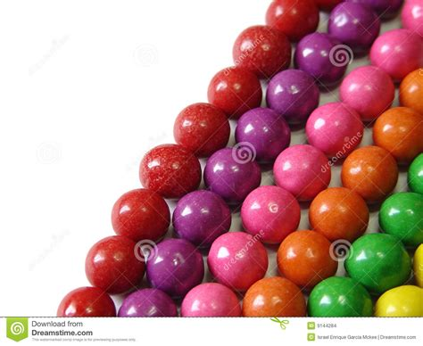 gum color aligned chewing gum balls by color stock images image