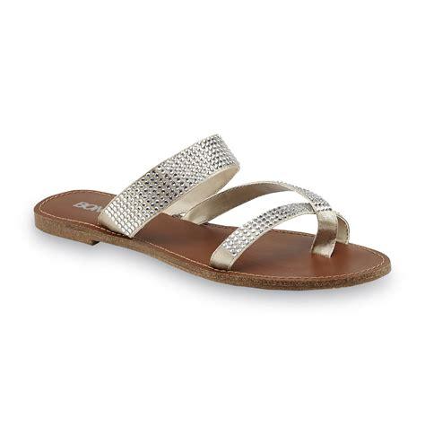 embellished flat sandals bongo s cayo silver embellished flat sandal shoes