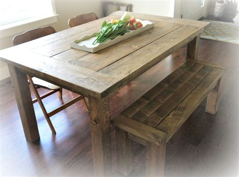 farm table and bench ana white red hen home s farmhouse table and bench diy
