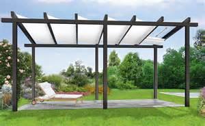 beschattung terrasse sonnenschutz mit einer pergola